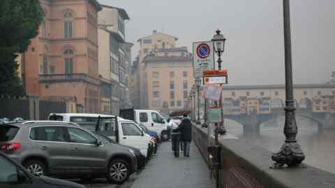pioggia a Firenze