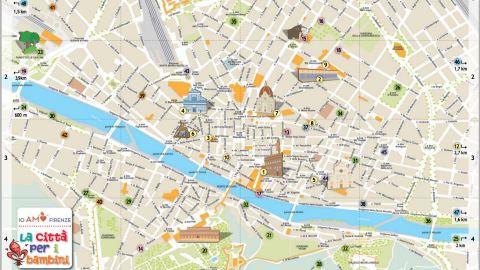 Cartina Citta Di Firenze.Turismo A Firenze Arriva La Mappa Dei Bambini Obiettivotre