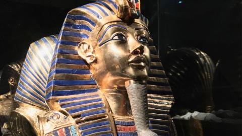 copia maschera per Tutankamon viaggio verso l'eternità