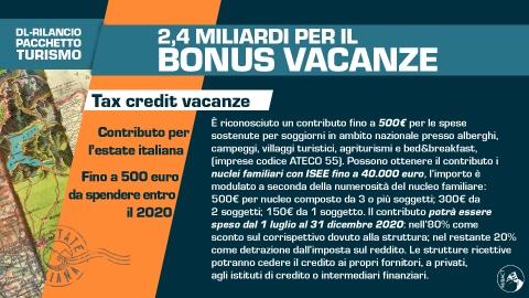 tax credit vacanze